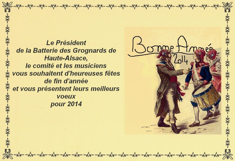 voeux tambours bgha 2014